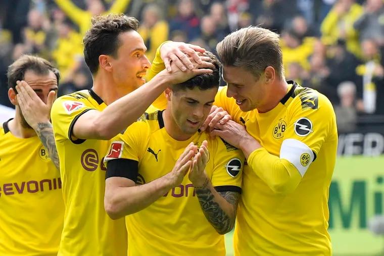 Christian Pulisic scores in tearful home farewell to Borussia ...