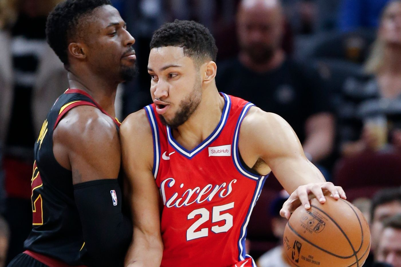 Ben Simmons, Joel Embiid lead balanced attack in Sixers' 128-105 victory over Cleveland Cavaliers