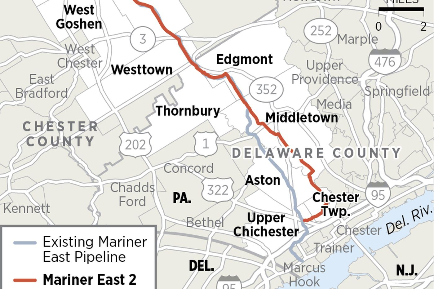 Mariner East pipeline target of possible Chester County Commission on