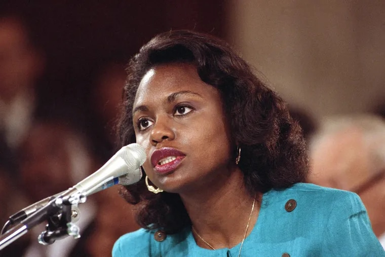 University of Oklahoma law professor Anita Hill testifies before the Senate Judiciary Committee on Capitol Hill in Washington, Oct. 11, 1991. Hill's explosive allegations included graphic language and were carried live by many media outlets throughout the nation.