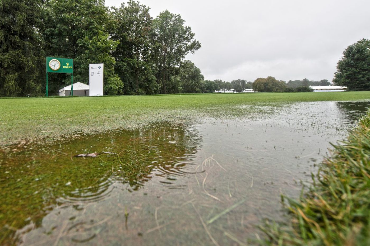 Steady rain forces postponement of BMW Championship final round