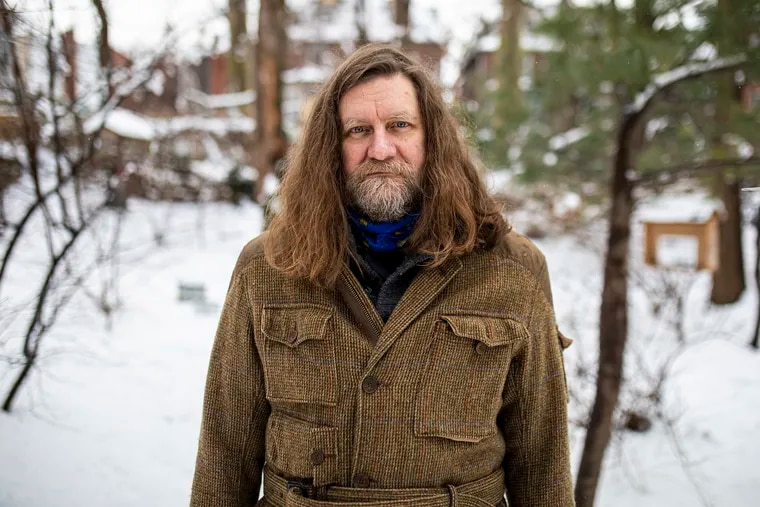 """Kyle Cassidy, 54, of West Philadelphia, had insomnia his entire adult life and is now getting more sleep because of the pandemic. """"Everyone is sleeping terribly, but suddenly I'm sleeping great for the first time in my life,"""" Cassidy said."""