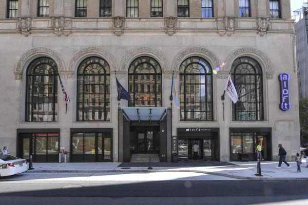 An exhilarating explosion of light and space at the renovated Liberty Title & Trust building