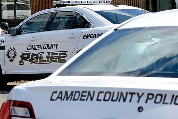 A woman was struck and killed by a Camden County Police car in East Camden.