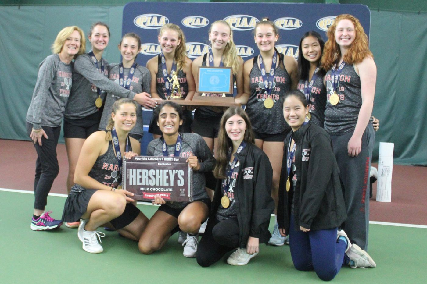 Harriton girls complete magical season with state tennis title