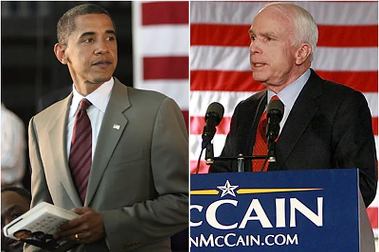 Barack Obama and John McCain both have their strengths as presidential candidates, but both also have a number of weaknesses. (Getty Images)