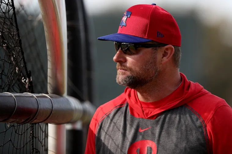 Phillies hitting coach Joe Dillon lost his job Sunday after two years with the organization.
