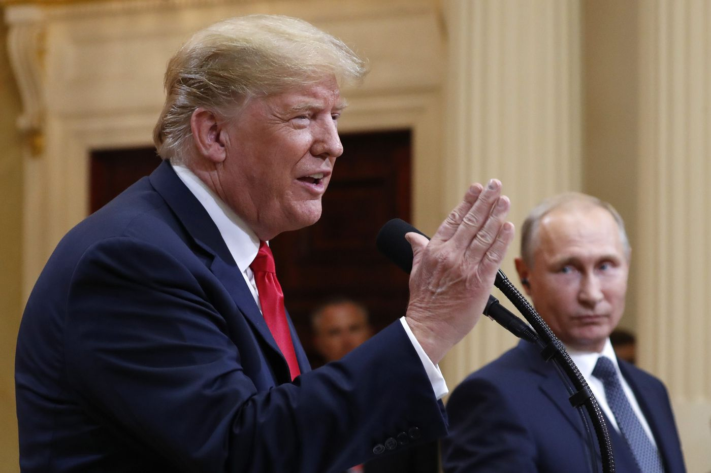 Democrats in key races say Russia comments show need for a check on Trump in Congress