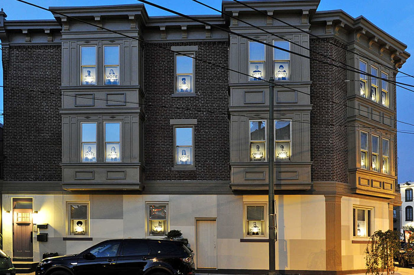 South Philly couple turns building into antidote to election blues