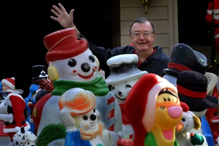 In 2002, Dr Robert Maro, Sr. gave away the decorations that made his home in Cherry Hill a must-see during the Christmas season for 40 years. DAVID M WARREN/Staff Photographer