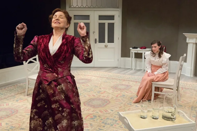 """Grace Gonglewski (left) as Nora and Grace Tarves as Emmy in Arden Theatre Company's """"A Doll's House, Part 2."""""""