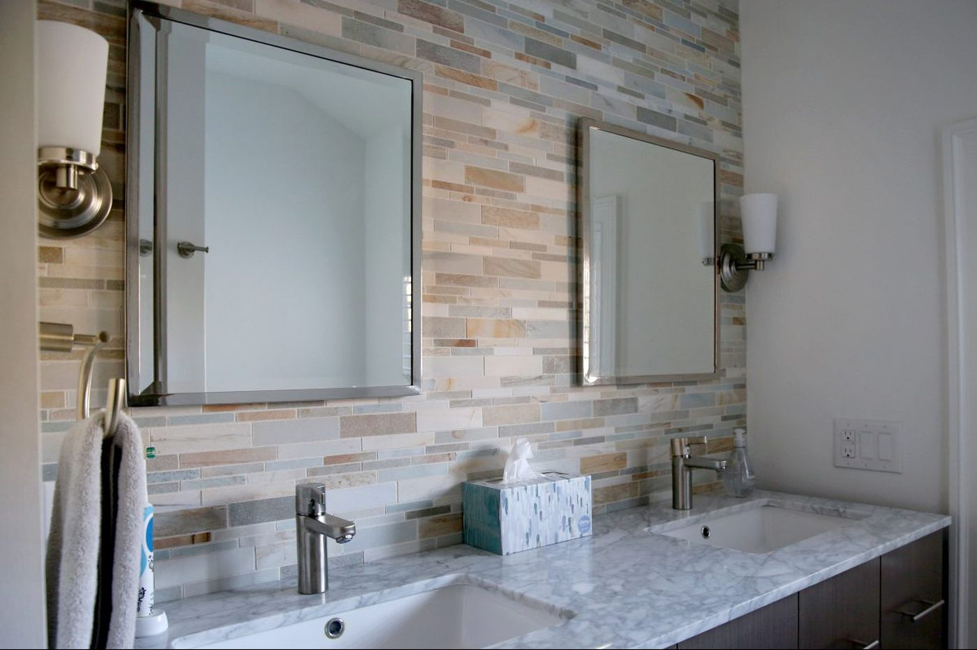 How kitchen backsplashes and bathroom tile can make an artistic statement