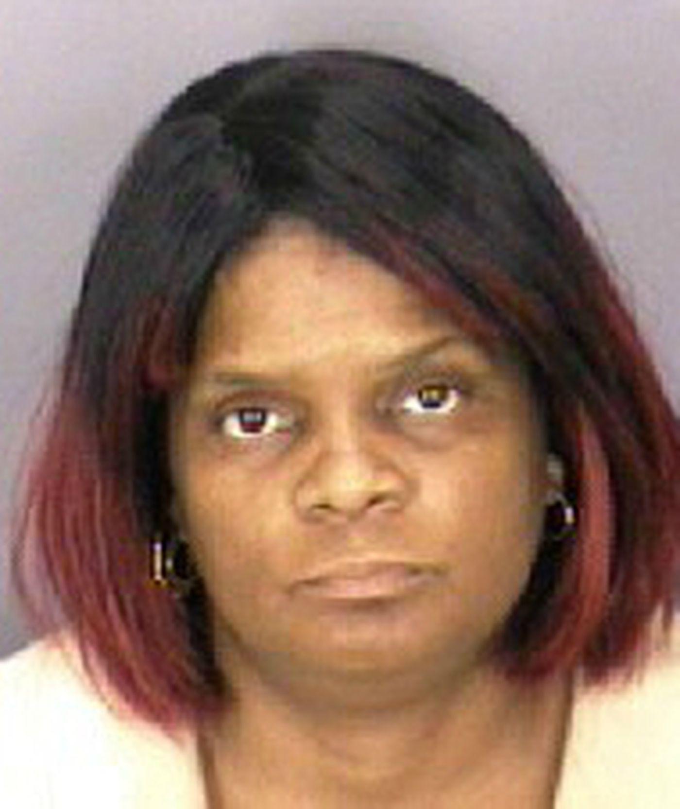 Gloria Byars in a police mug shot when she was arrested in Virginia in 2003.
