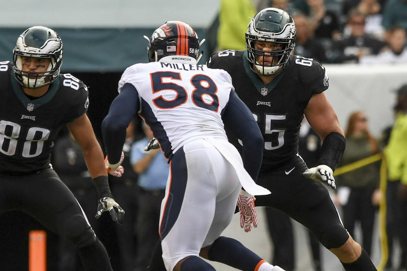 King for a day: Lane Johnson gets best of Von Miller