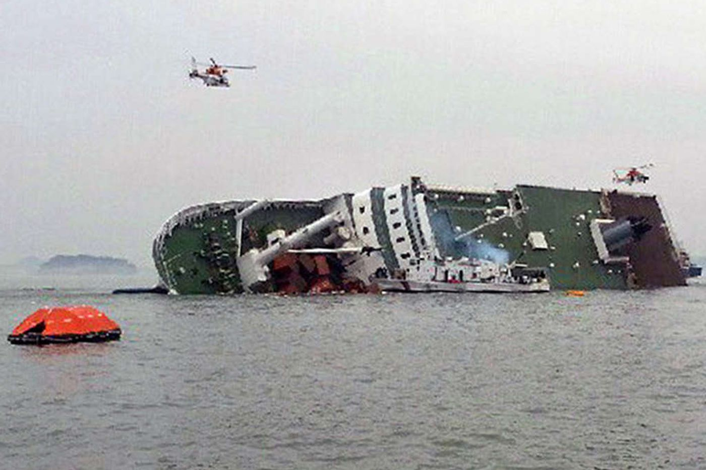 Rescue underway from S. Korean ferry