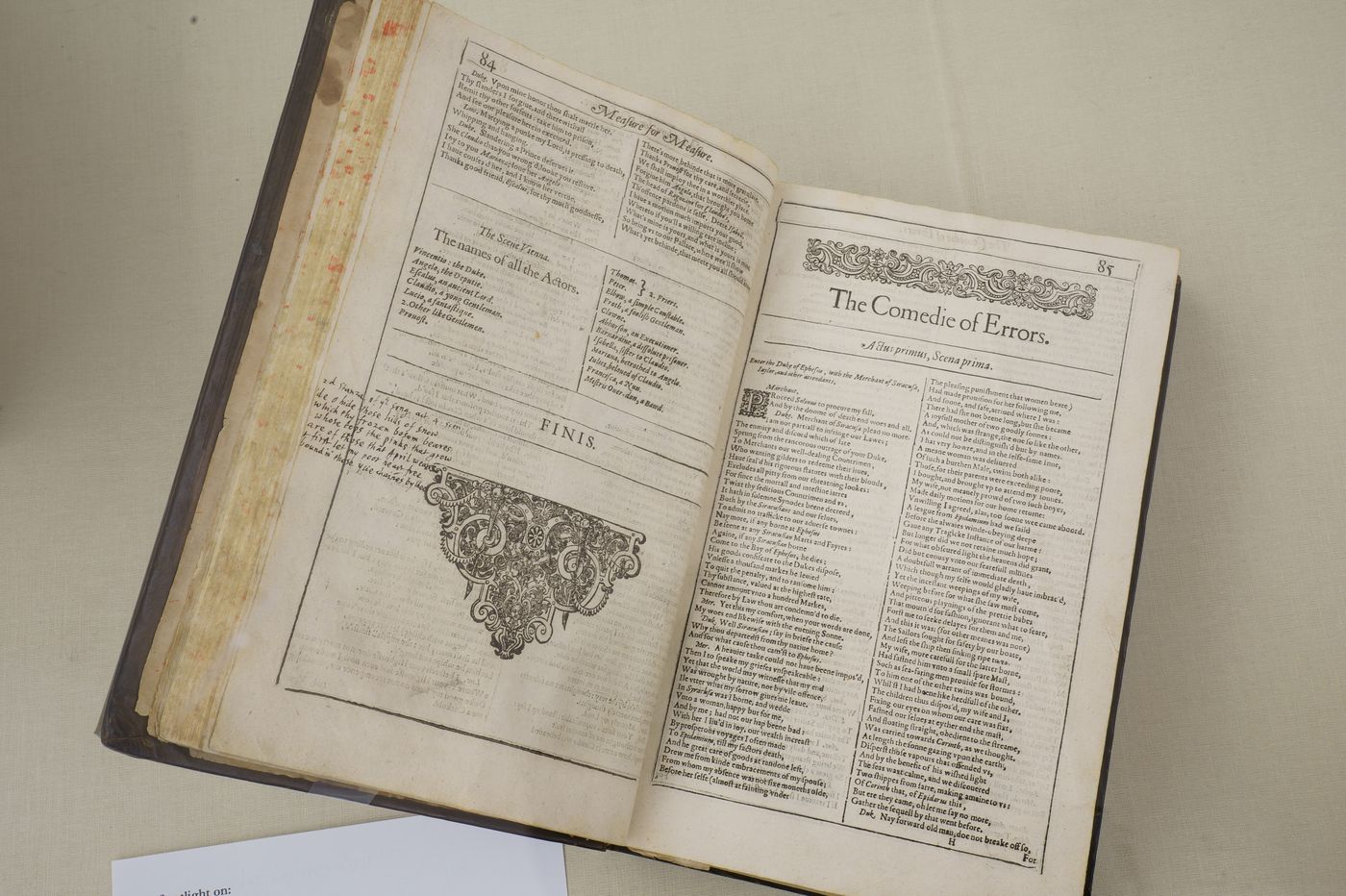 A rare Shakespeare First Folio annotated by John Milton hid in Free Library of Philadelphia for 75 years