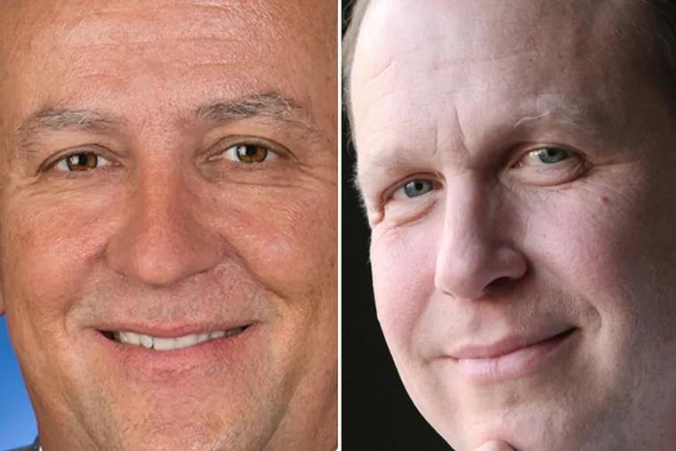 State Sens. Mike Folmer and Daylin Leach