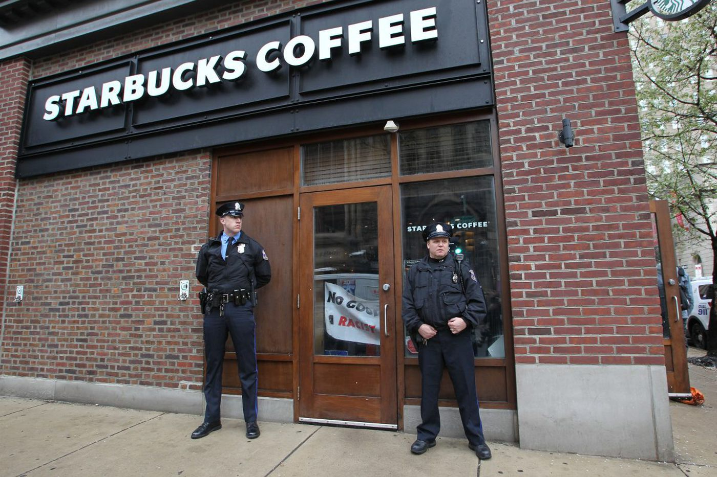 Philly police dispatcher after 911 call: 'group of males' was 'causing a disturbance' at Starbucks
