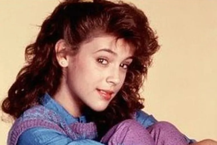 Actress Alyssa Milano posted this photo from when she was 14.