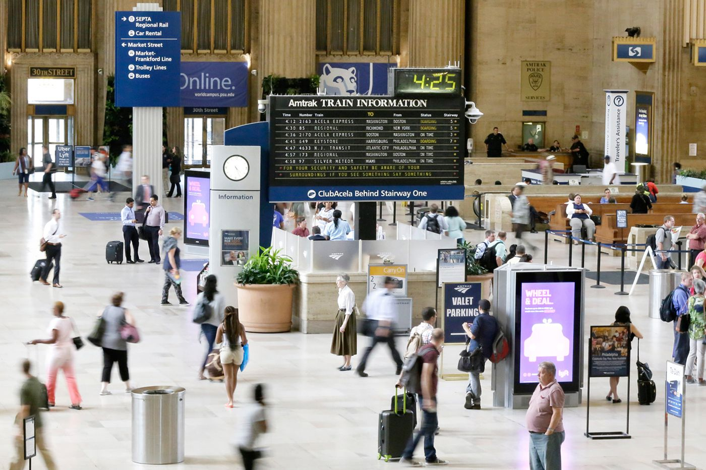 At 30th Street Station, the last echoes of a disappearing sound