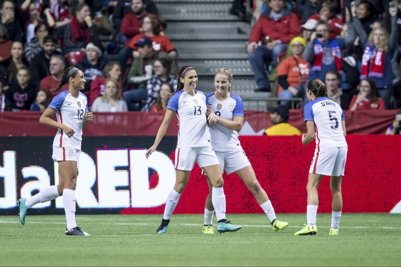 Alex Morgan scores as U.S. women's soccer team ties Canada 1-1