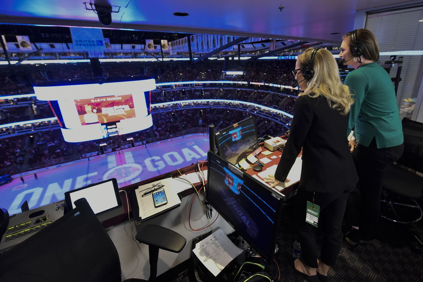 What impact will NHL's first all-women telecast have on the future of women in sports?