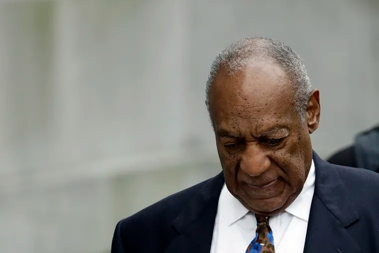 In this Sept. 24, 2018, file photo, Bill Cosby departs after a sentencing hearing at the Montgomery County Courthouse in Norristown, Pa.