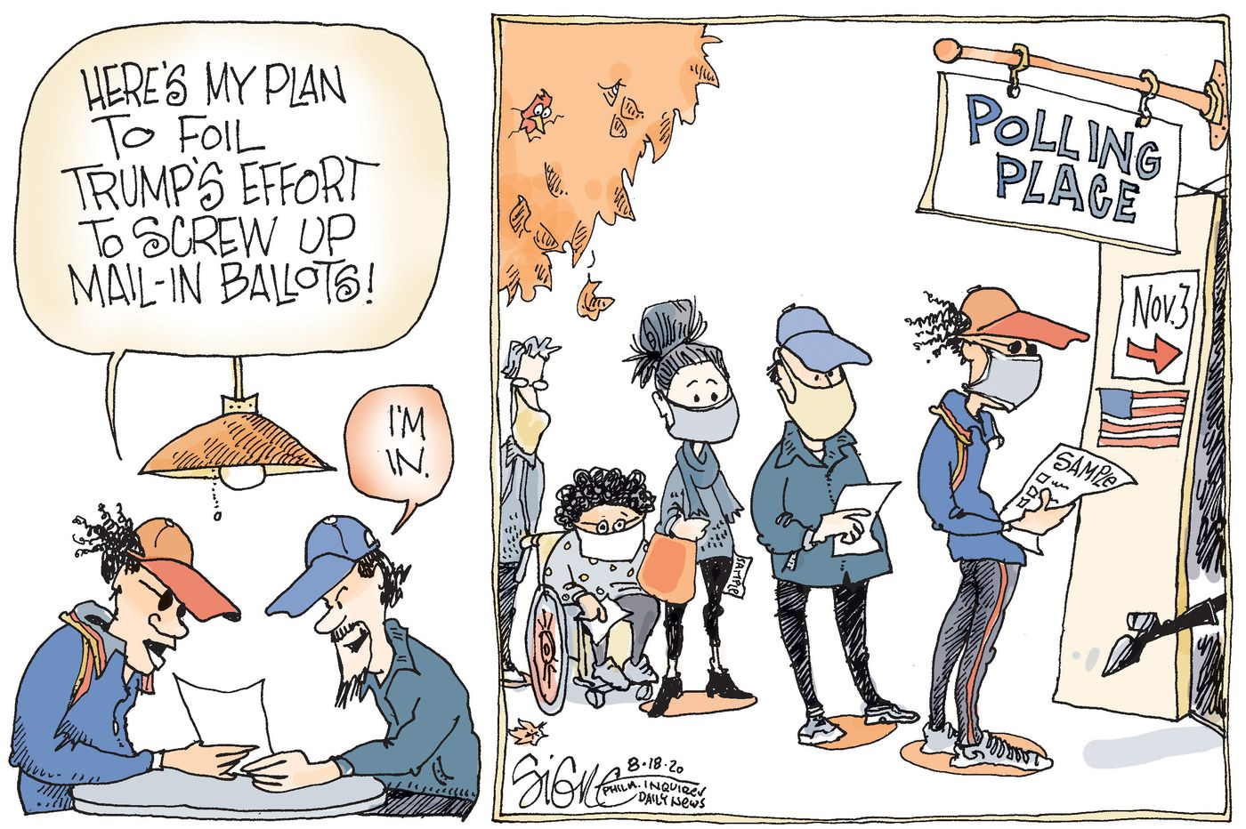Political Cartoon: Don't mail in those ballots!