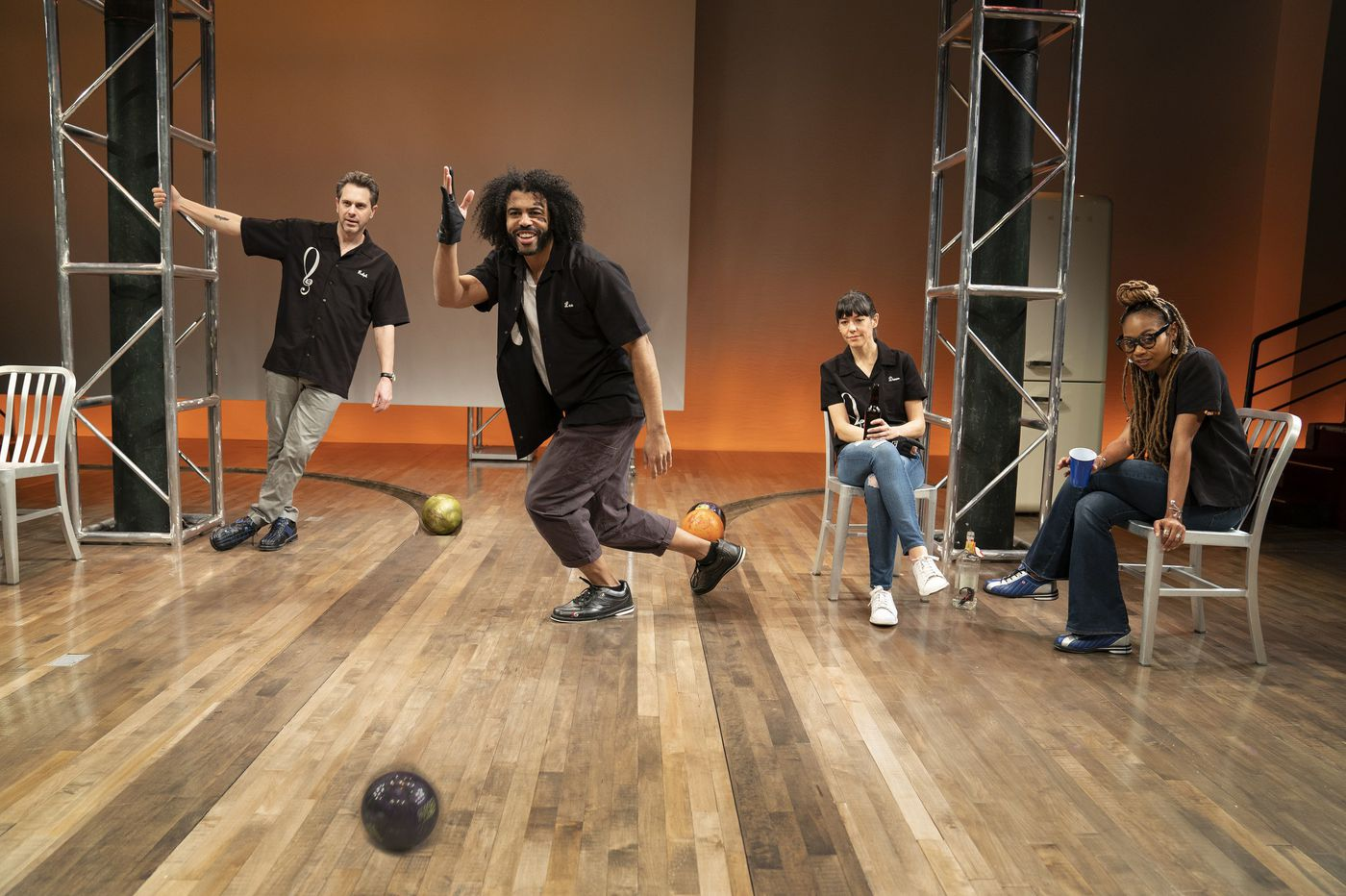 """New York stage review: """"White Noise"""" at Public Theater goes big, is thrilling and exhausting"""