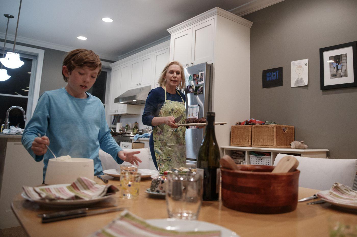 'Carer-feeder': Gillibrand plays up motherhood in 2020 race