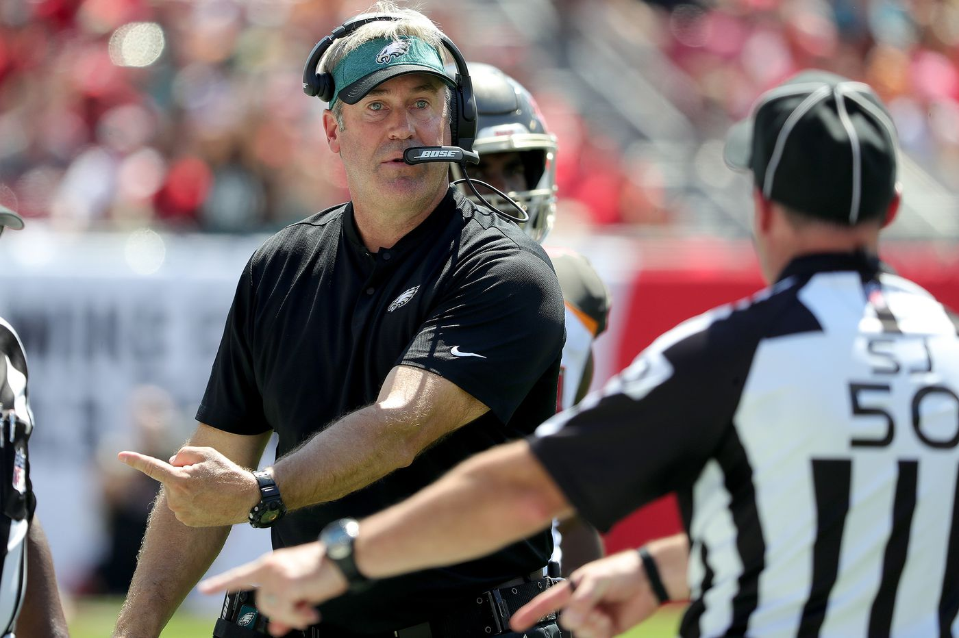 Eagles' Doug Pederson has no regrets about decision to go for it on fourth-and-4 in loss to Bucs