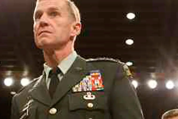 Testifying before the Senate Armed Services Committee, Gen. Stanley McChrystal laid out his strategy to stabilize Afghanistan.