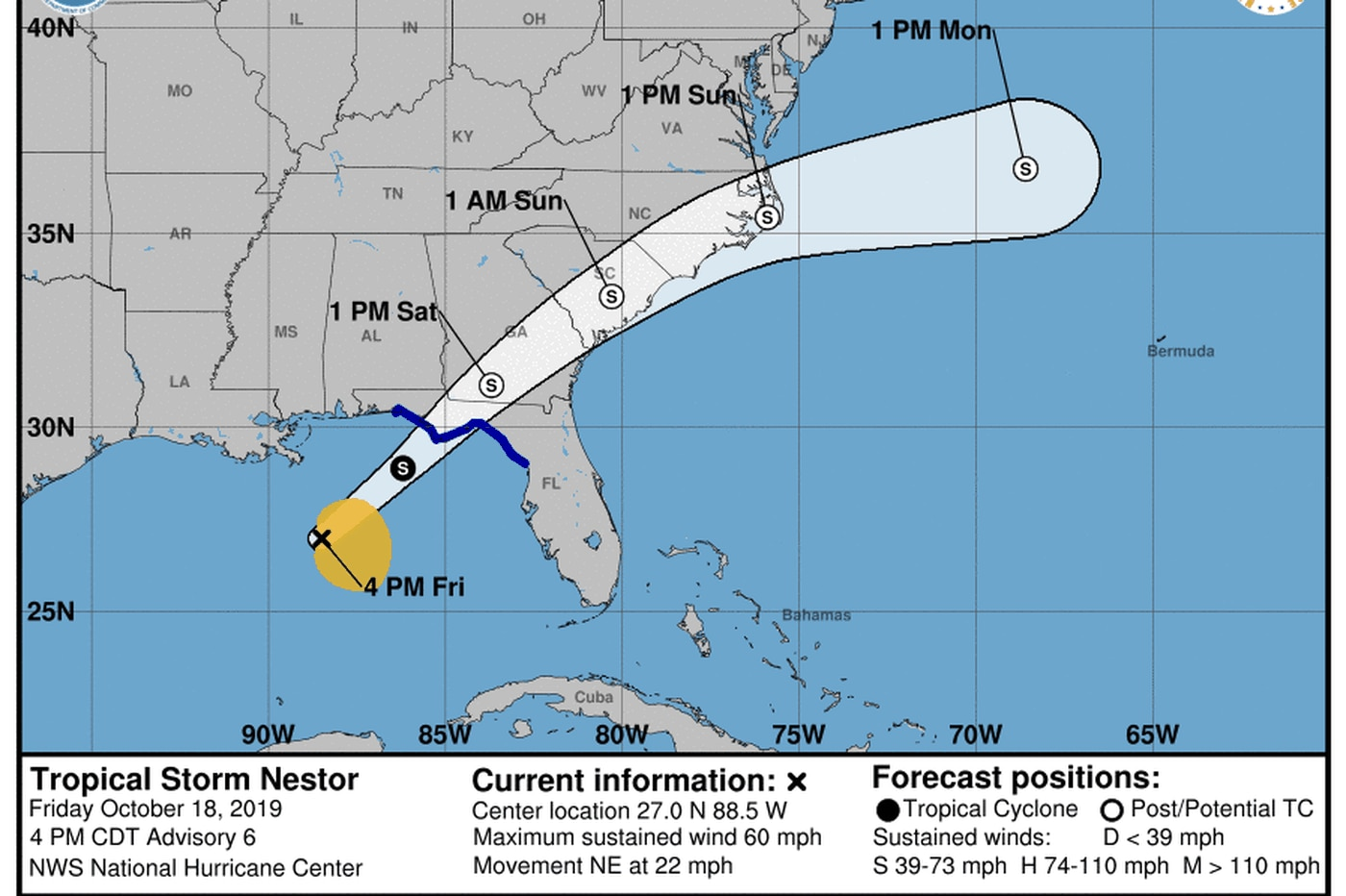 Tropical Storm Nestor heading for Carolinas; Philly region could be on 'fringe'