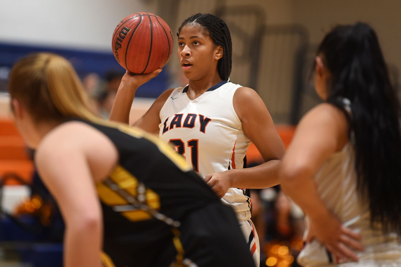 Only a freshman, Overbrook's Imani Gillette is a tower of basketball strength and will