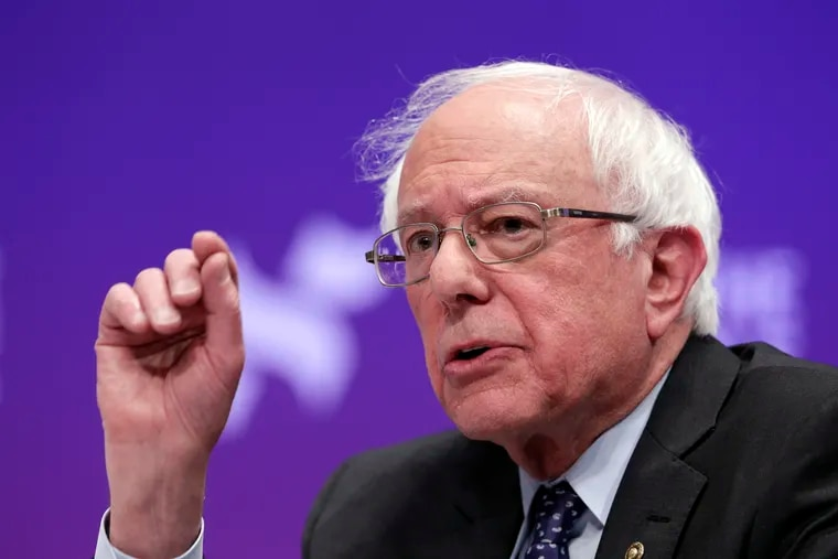Sen. Bernie Sanders urges Philadelphia voters to back progressive judicial candidates in the May 21 primary.