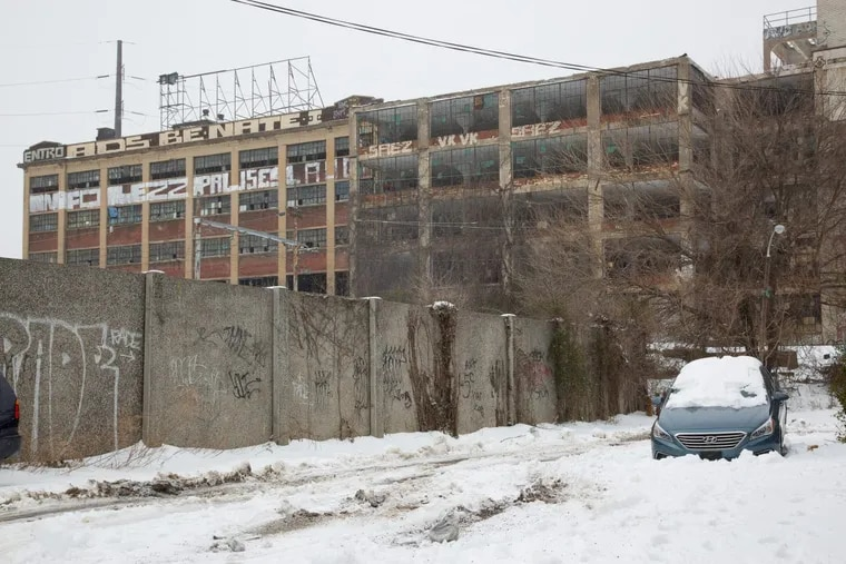 A vacant building near Amtrak's North Philadelphia station, one of the areas nominated by the governor to become a Qualified Opportunity Zone.