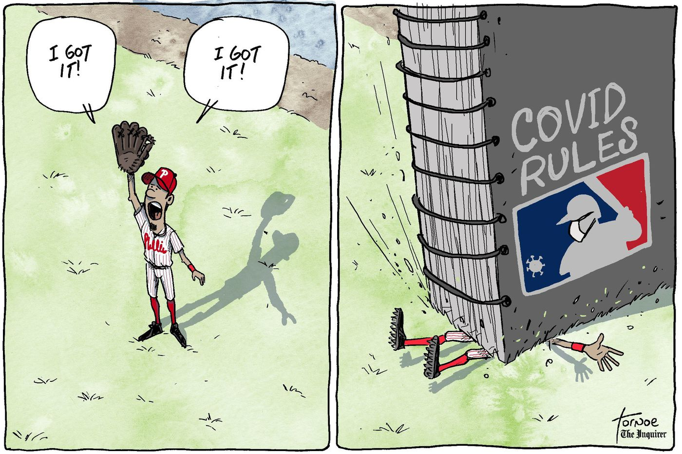 Cartoon: MLB missing an opportunity with its massive coronavirus rulebook