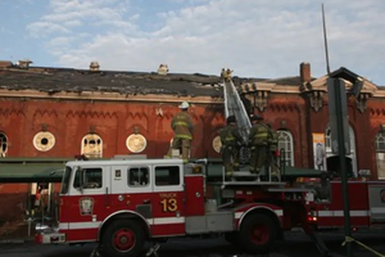 A fire April 30 heavily damaged the roof of the market in the Capitol Hill neighborhood, but the walls apparently are sound.