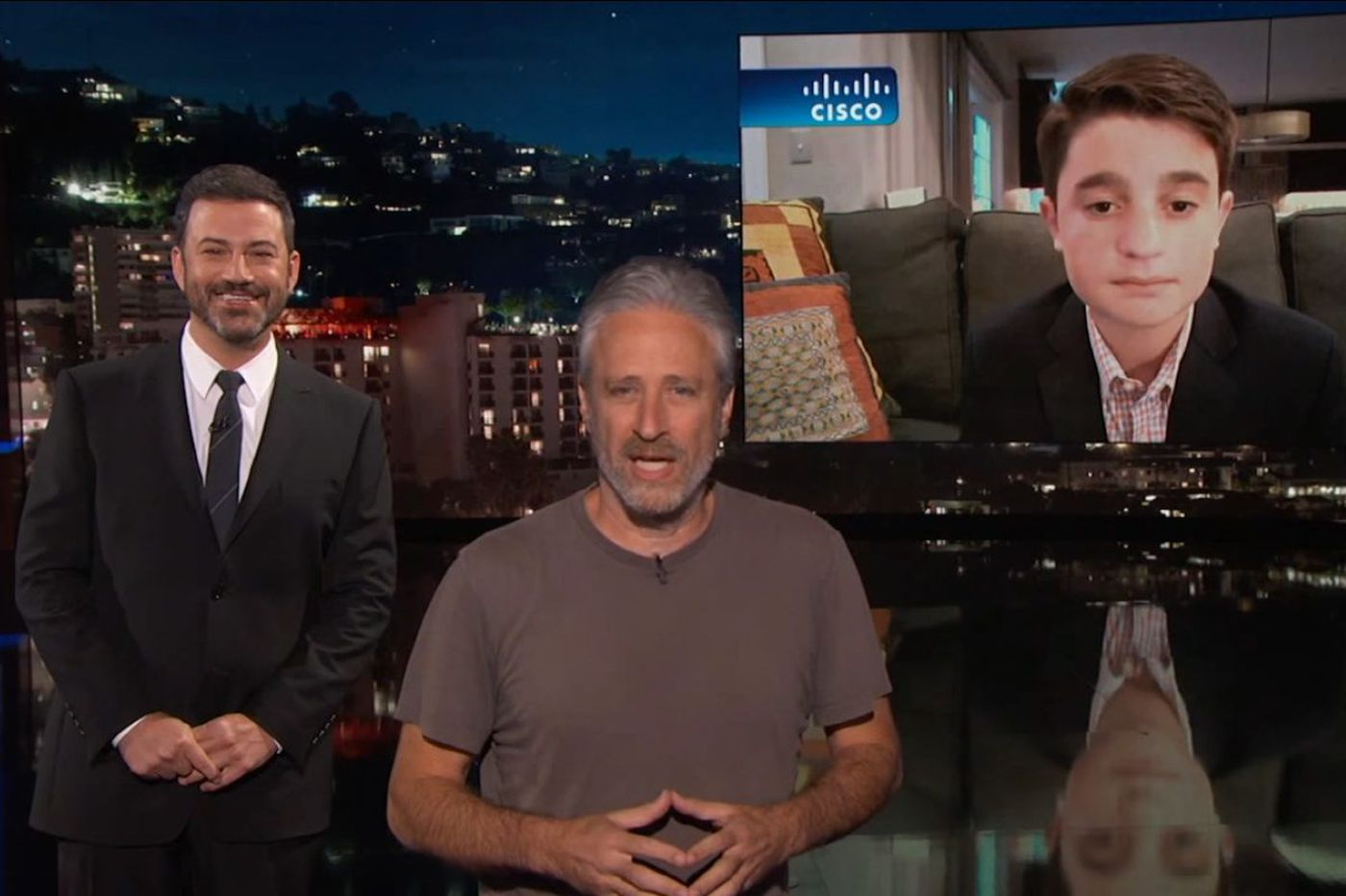 Jon Stewart to Delco teen: Jimmy Kimmel wrong choice for bar mitzvah theme