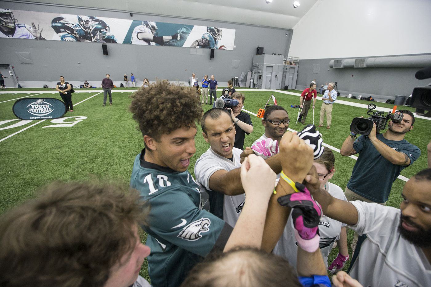 Eagles' Shelton Gibson inspired by 'just seeing the passion' of Special Olympics flag football players