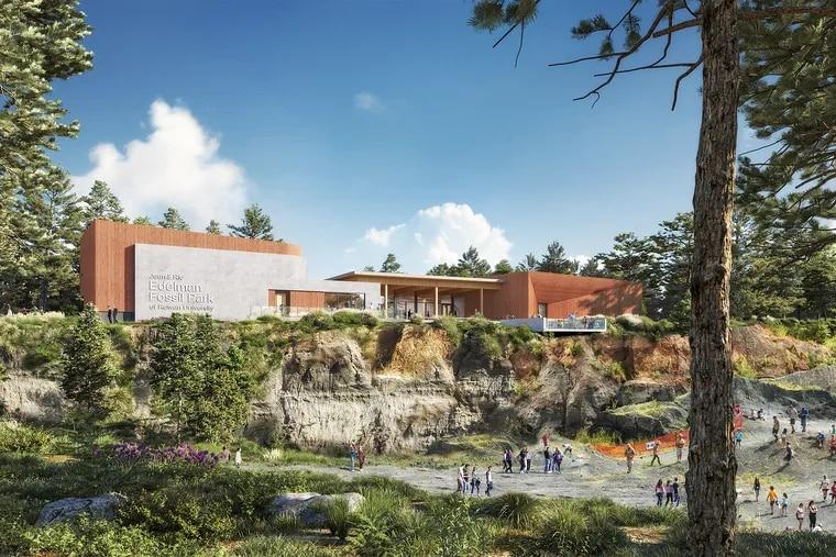 Ennead Architects rendering of the Jean & Ric Edelman Fossil Park Museum of Rowan University.
