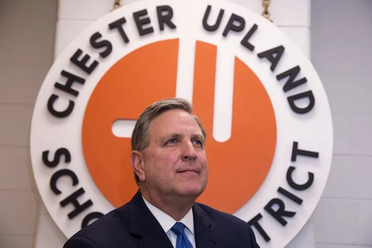 Peter Barsz, 60, is the Chester Upland School District receiver. He said he gave Chester Community Charter School a nine-year renewal to save the district. CLEM MURRAY / Staff Photographer