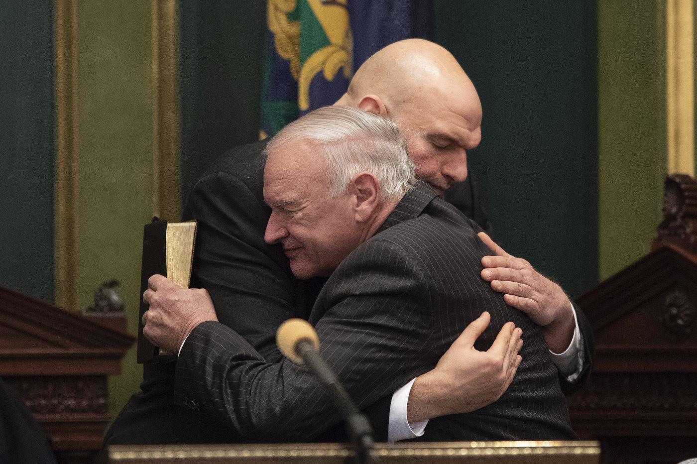 John Fetterman sworn in as Pa. lieutenant governor, promises 'bipartisan spirit'