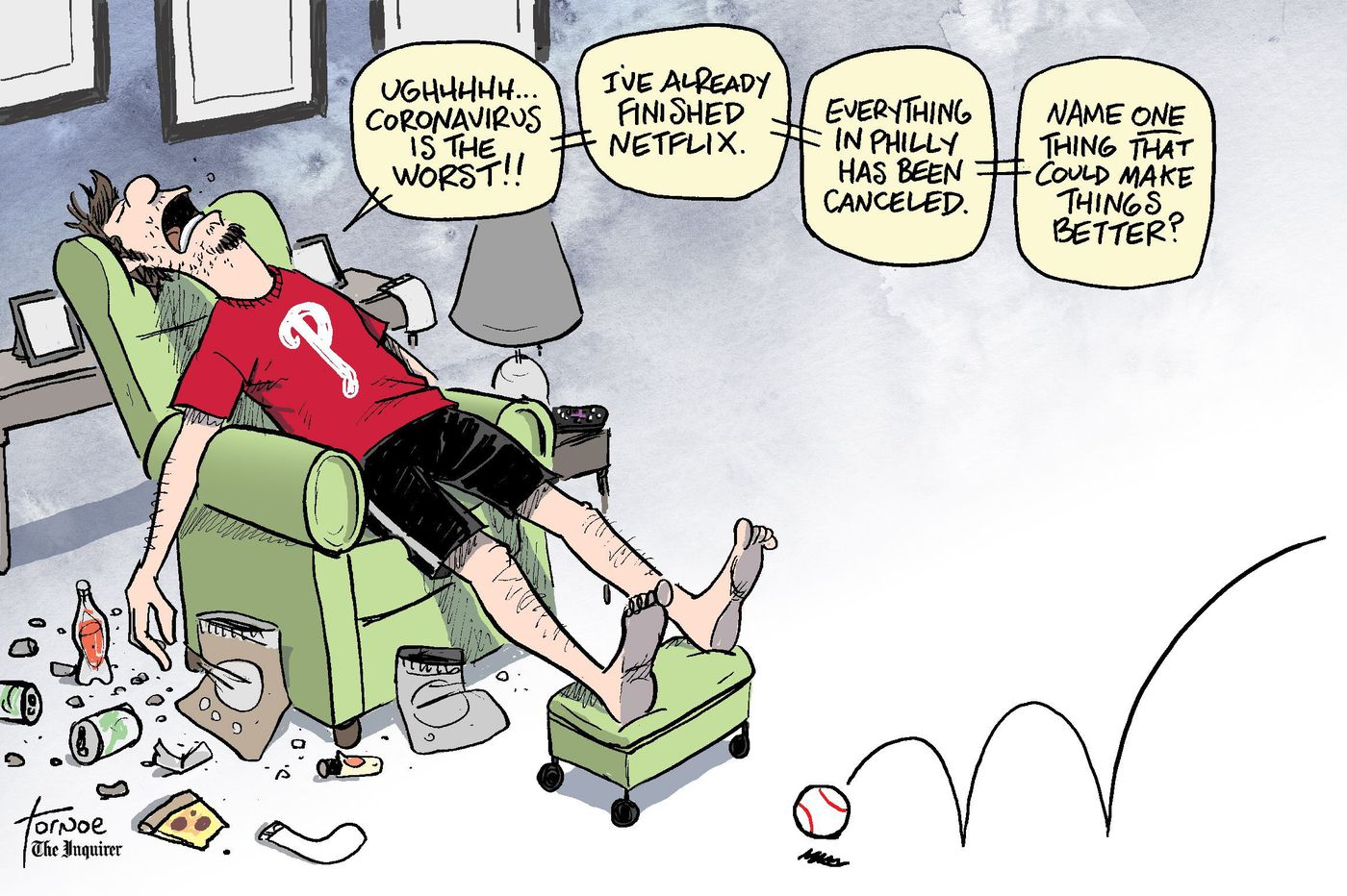 Cartoon: There's a live Phillies game on TV this weekend. For real. No kidding.