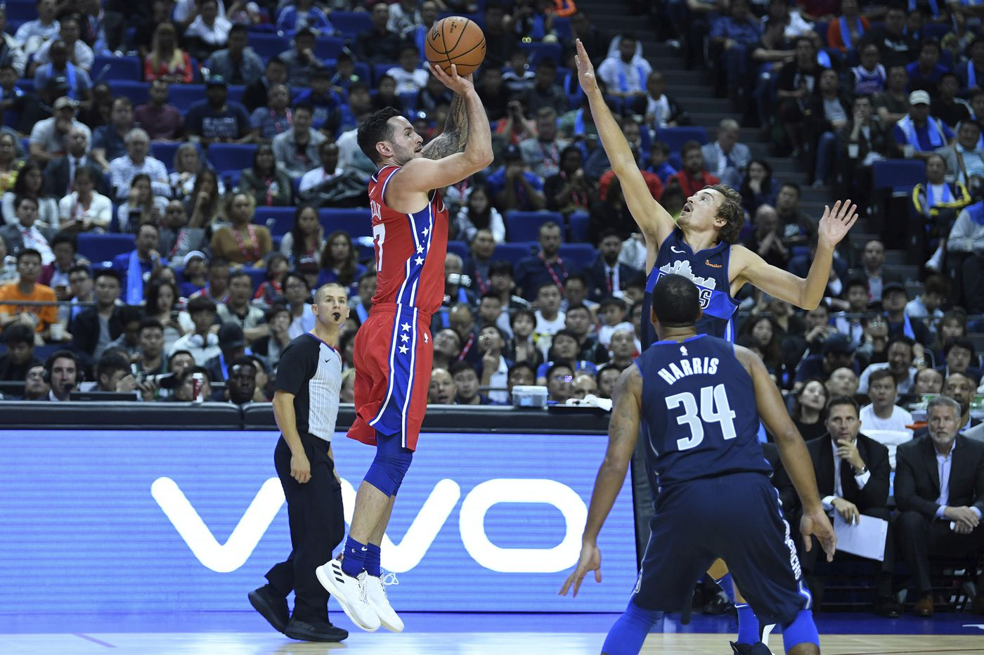 Sixers' JJ Redick can't miss in victory over Dallas Mavericks