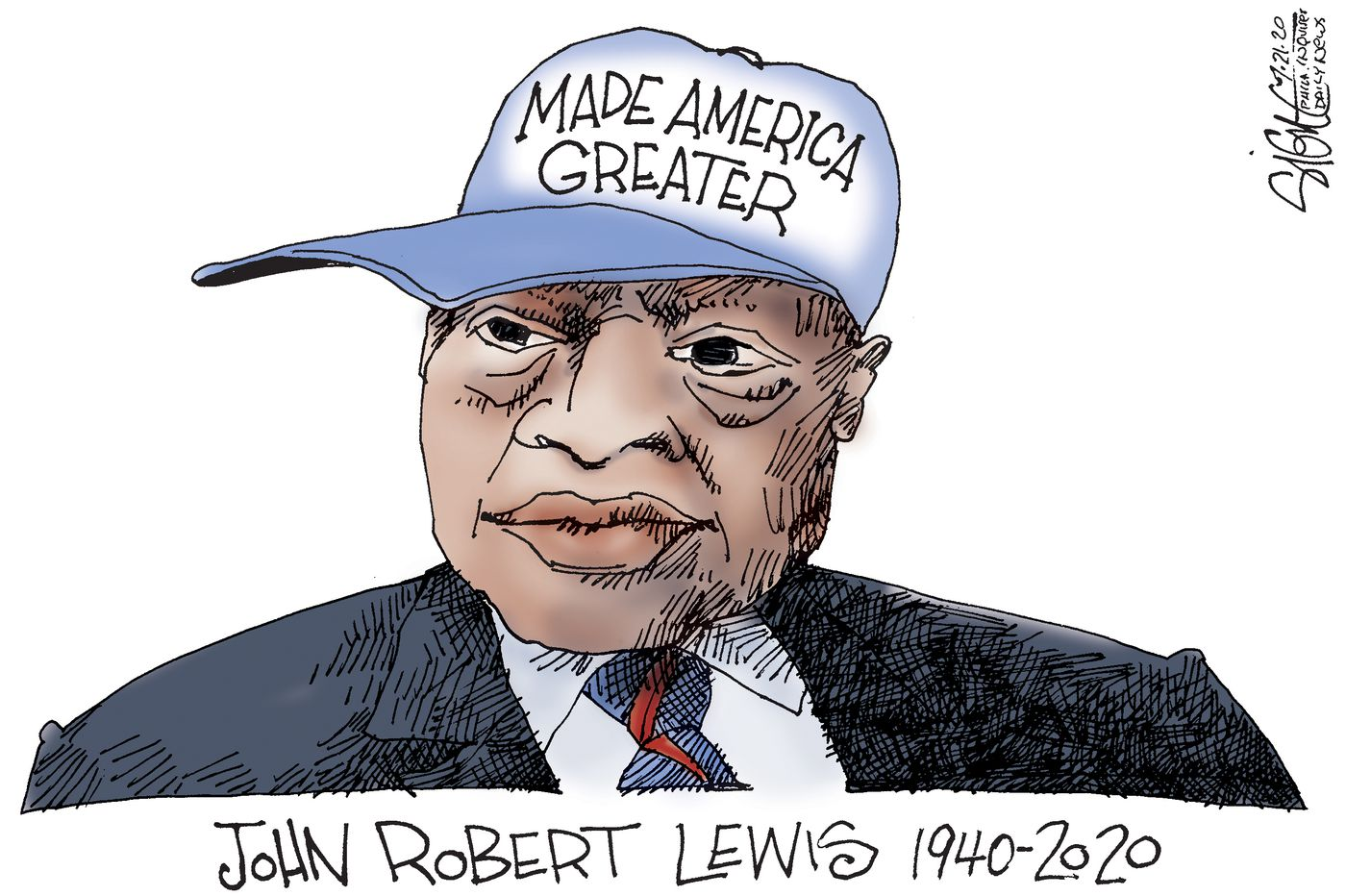 Political Cartoon: John Lewis made America great