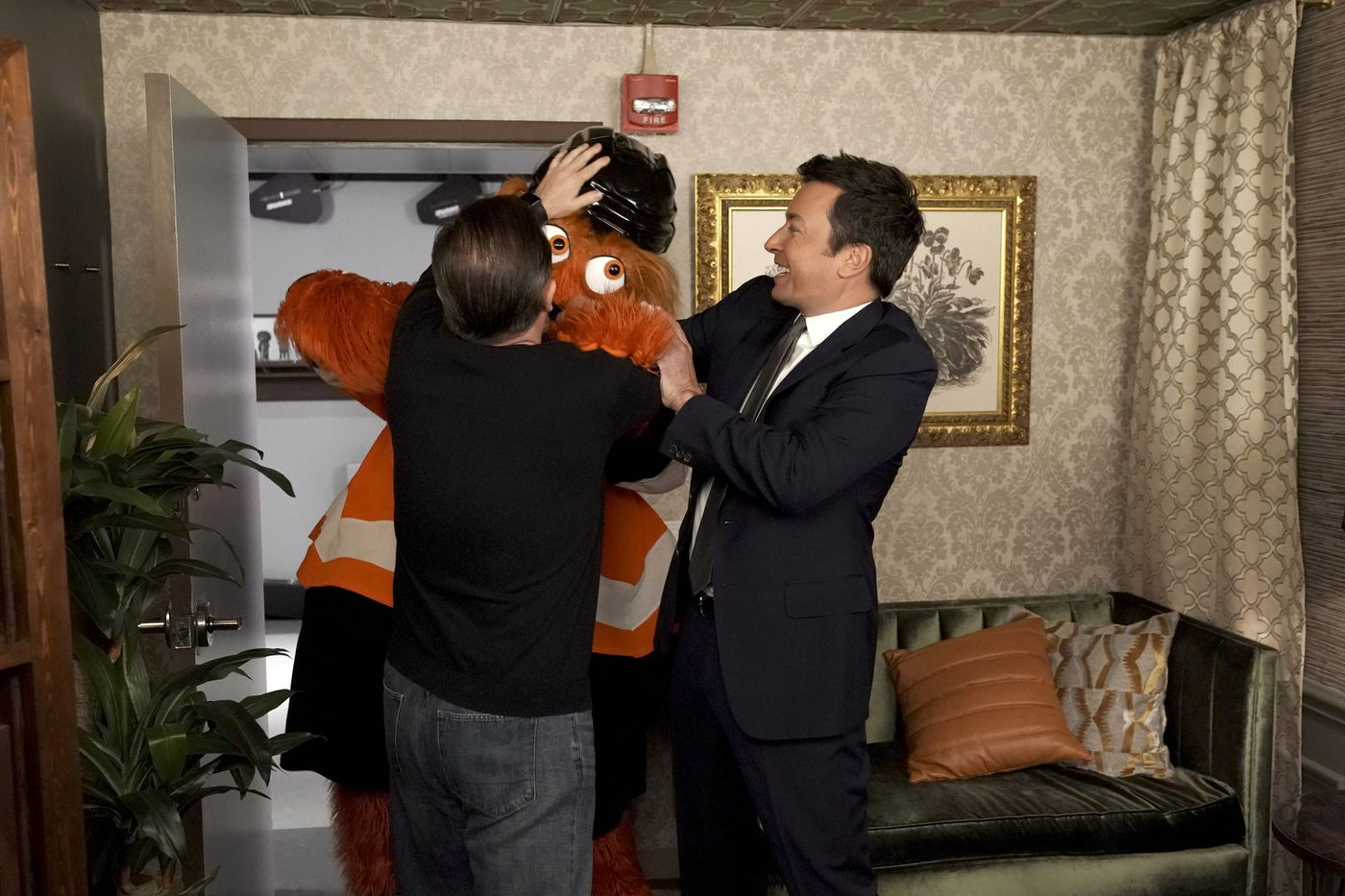Gritty makes late-night television debut on the 'Tonight Show with Jimmy Fallon'