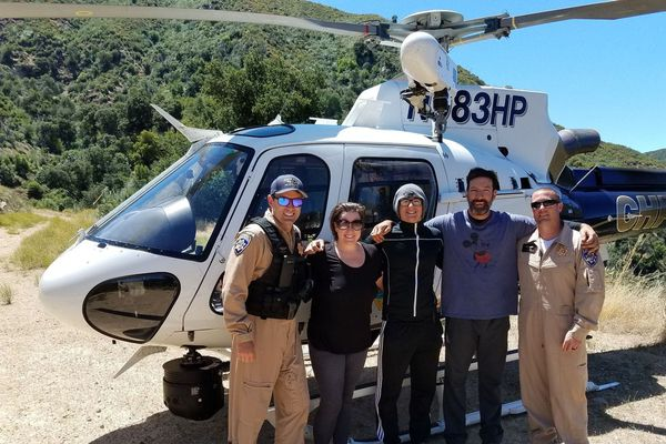 Message in a water bottle leads to mountain rescue