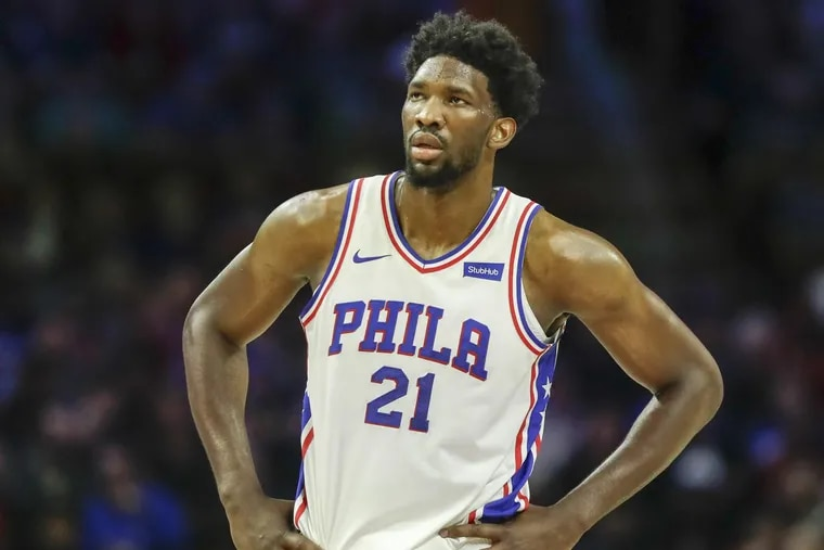 Sixers center Joel Embiid will miss his sixth game of the season Monday against the Bulls.