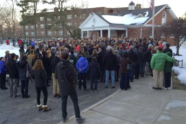A candlelight vigil was held at the Shipley School in Bryn Mawr, which was forced to come to grips with tragedy when the body of eighth grader Cayman Naib was found on the grounds of his Newtown Square home, dead from a self-inflicted gunshot wound.